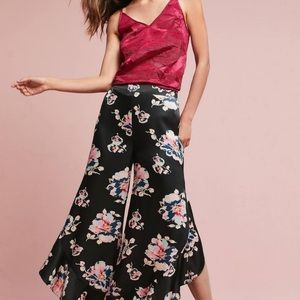 NWT anthro Elevenses   tansy floral ruffle pants